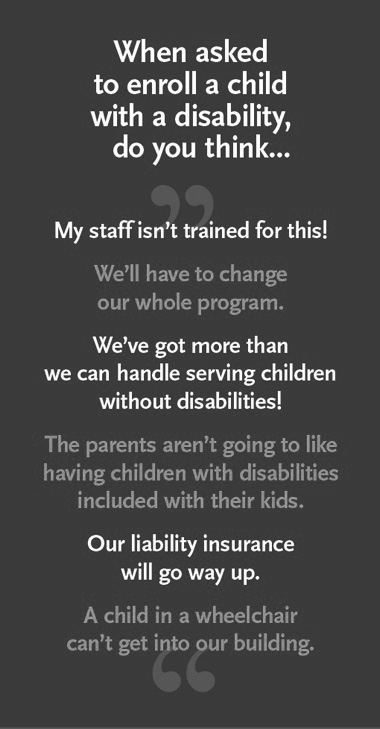 What do you think when asked to enroll a child with a disability?